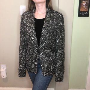 Proenza Schouler 8  black/blue/white tweed blazer